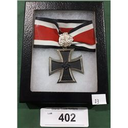 WWII NAZI GERMAN CROSS MEDAL IN DISPLAY BOX - REPRODUCTION