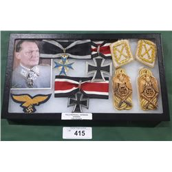 WWII NAZI FIELD MARSHAL HERMANN GOERING MILITARIA COLLECTION - REPRODUCTION