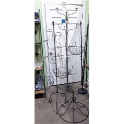 MOVIE PROP LOT - METAL HAT STAND & 2 METAL PLANT STANDS