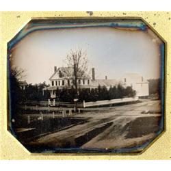 1/4 plate  Daguerreotype   A NEW HOUSE.