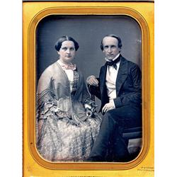 1/2 plate Daguerreotype   COUPLE BY GURNEY.