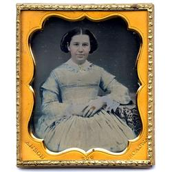 Daguerreotype   PALE BLUE DRESS, 1/6 plate ANSON