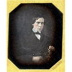 1/6 plate Daguerreotype   BROODING, by Plumbe.