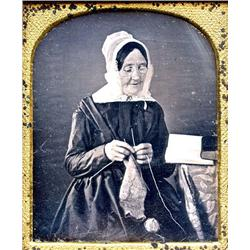 "Daguerreotype   THE PIOUS ONE. That's her ""occupation."""