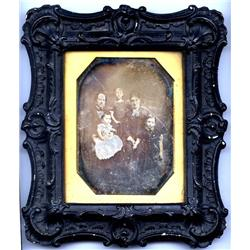 Daguerreotype   GERMAN FAMILY IN NEW YORK CITY.