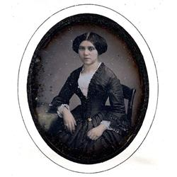 Daguerreotype   TWO OF THE SAME FRENCH YOUNG WOMAN.