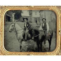 Ambrotype   RIDERS IN THE STREET.