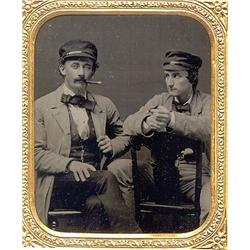 Ambrotype   CHUMS IN CAPS, CIGARS