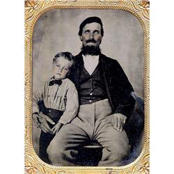 Tintype   BLIND FATHER WITH HIS SON.