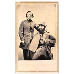 CDV   KIT CARSON AND EDWIN PERRIN.