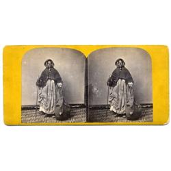 Stereoview   Old Nancy. Kentucky rag-picker