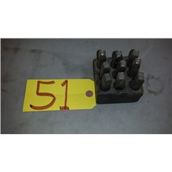 Set of Number Punches 3/8""