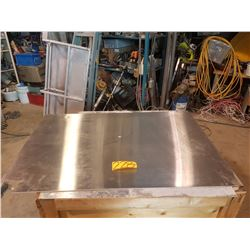 "Stainless plate with corner 32"" x 46""1/2"