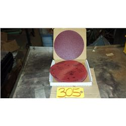 "Carbo PREMIER Red Resin Paper stick-on Disc 8"" Gr.80"