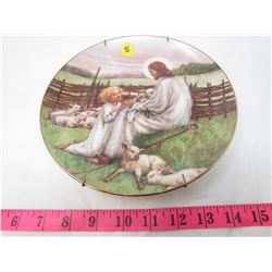 """COLLECTIBLE PLATE (RELIGIOUS """"THE LORD IS MY SHEPERD"""") *BY CICELY MARY BARKER* (PLATE # 3388 D)"""