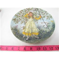 """COLLECTIBLE PLATE (GIRL AND SHEEP """"LITTLE BO PEEP"""") *BY JOHN MCCELLAND* (PLATE # 5F321)"""