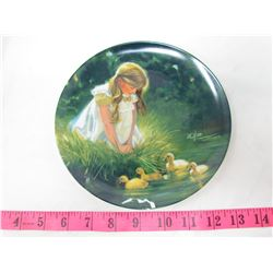 "COLLECTIBLE PLATE (GIRL WITH DUCKS ""GOLDEN MOMENT"") *BY DONALD ZOLAN* (PLATE # 5097 K)"
