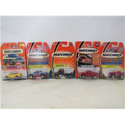 LOT OF 5 MATCHBOX VEHICLES (WEB WHEELER, FORD EXPLORER SPORT TRAC, TRACTOR CAB, FORD EXPLORER SPORT
