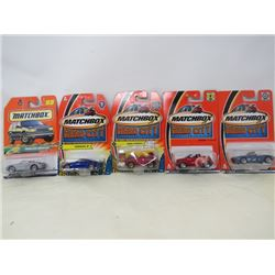 LOT OF 5 MATCHBOX VEHICLES (BMW 28, PT CRUISER, PORSCHE BOXSTER, NISSAN Z, FLAME CHOPPER)