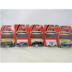 LOT OF 5 MATCHBOX VEHICLES (SQUAWKIE TALKIE, TRASH KING, PONTIAC PIRAHNA, DODGE RAM SRT-10, CHRYSLER