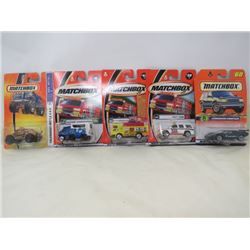 LOT OF 5 MATCHBOX VEHICLES (LAMBURGHINI COUNTACH, CHEVY TAHOE, GENERATOR, ALPINE AMBULANCE, VOLKSWAG