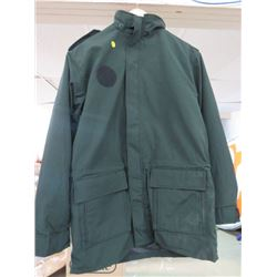 "CADET COAT (ALL SEASON) *DARK GREEN* (SIZE 7640) *SLEEVE 27"", LENGTH 34"", WAIST 47""*"