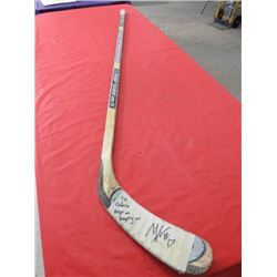 HOCKEY STICK (SHER-WOOD PMP 7000 FEATHER GLASS) *SIGNED*