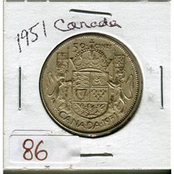 50 CENT COIN (1951) *CANADA*