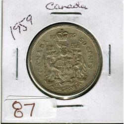 50 CENT COIN (1959) *CANADA*