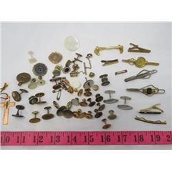 LOT OF COLLECTIBLES ( 8 + TIE CLIPS, CUFF LINKS, ETC…)