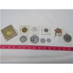 LOT OF ASSORTED COINS AND MEDALS