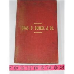 BOOK (COMPLETE CATALOG OF HARDWARE FOR WET PLACES) *BY CHAZ D. DURKEE AND CO.*