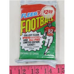 WAX PACK OF NFL TRADING CARDS (1991)