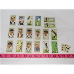 LOT OF 1930'S CIGARETTE CARDS