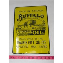 BUFFALO OIL SIGN (PORCELAIN) *REPRODUCTION*