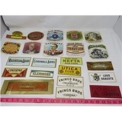 LOT OF TOBACCO AND CIGAR BOX LABELS