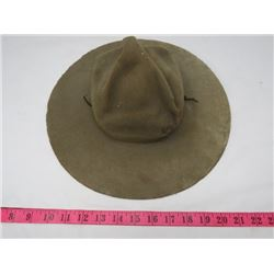 NORTH WEST MOUNTED POLICE STETSON (NOTE DAMAGES)
