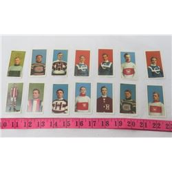LOT OF 14 HOCKEY CIGARETTE CARDS