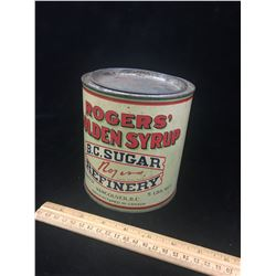 ROGERS SYRUP TIN (VINTAGE) *5 LBS*