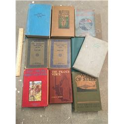 LOT OF VINTAGE AND ANTIQUE BOOKS