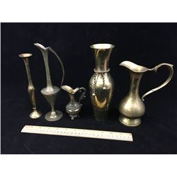 LOT OF BRASS VASES