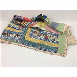 "ANTIQUE BABY PATCH QUILT (44"" x 33 1/2"")"