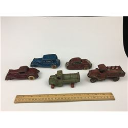 LOT OF ANTIQUE CAST IRON TOY CARS