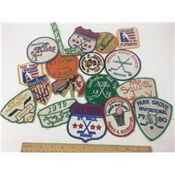 LOT OF VINTAGE HOCKEY PATCHES