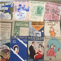 LOT OF VINTAGE AND ANTIQUE SHEET MUSIC