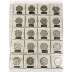 PAGE LOT OF 20-CANADA 50 CENT PIECES (1970)