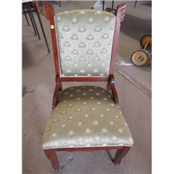 """UPHOLSTERED LIVING ROOM CHAIR (35.5"""" X 17"""" X 17.5"""")"""