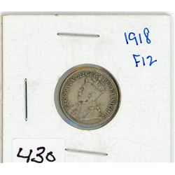 ONE 10 CENT COIN (CANADIAN) *1918*