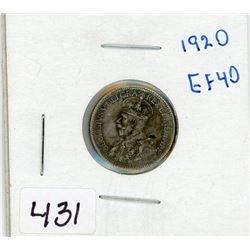 ONE 10 CENT COIN (CANADIAN) *1920*
