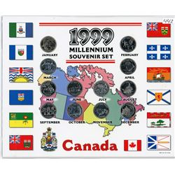 25 CENT COIN SET (CANADIAN) *UNCIRCULATED* (1999)